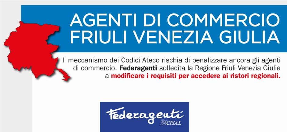 federagenti scrive per i ristori della regione Friuli Venezia Giulia