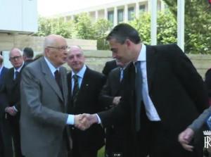 Il Segretario Generale Gaburro con il Preseidente Napolitano