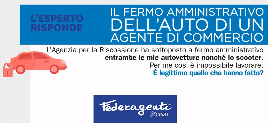 Federagenti - Fermo amministrativo dell'auto di un agente di commercio